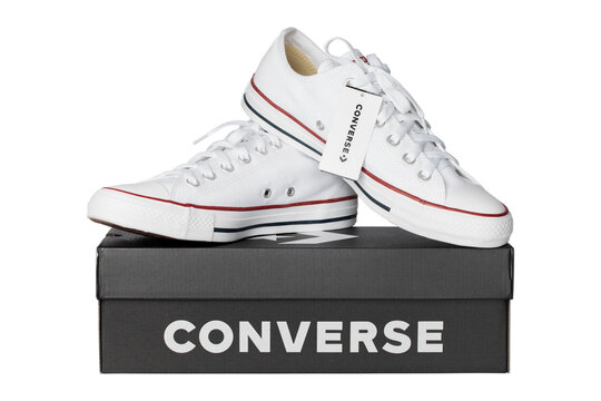 Bangkok Thailand August 30, 2020:Converse sneakers isolated on white background