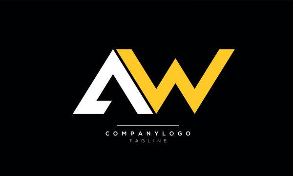 Alphabet letters Initials Monogram logo AW,WA