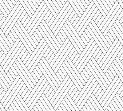 Vector geometric texture. Monochrome repeating pattern with intersecting stripes.