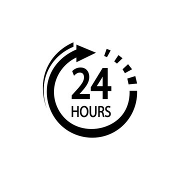 24 hours icon. hours icon Vector illustration eps 10.