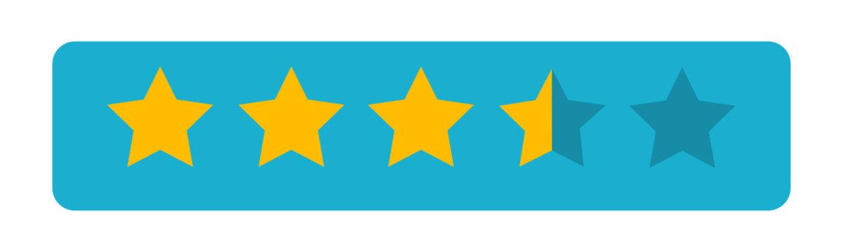 Five star icon. 5 stars. Vector illustration eps 10