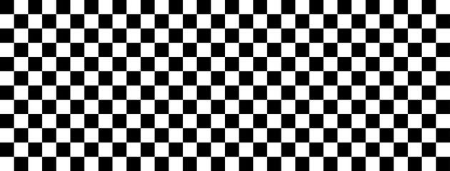 Checkered flag. Race background. Banner seamless chessboard. Checker background. Racing flag - stock vector