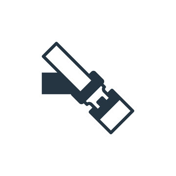 seatbelt icon. Glyph seatbelt icon for website design and mobile, app development, print. seatbelt icon from filled safe driving collection isolated on white background..