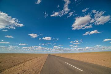 맑은 몽골의 하늘 Fotobehang