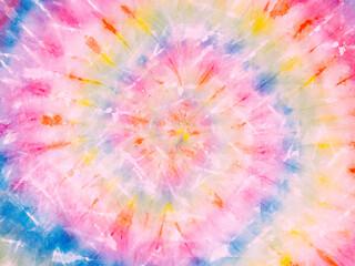 Spiral tie dye pattern backdrop. Tie-dye background wallpaper. Hippie tie dye pattern. Fotobehang