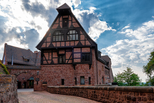 Wartburg Castle, Germany. View of the central part of the castle