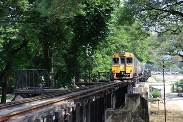 Train on the River Kway bridge