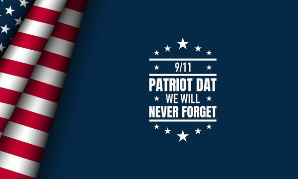 Patriot Day Background with USA Flag Illustration.
