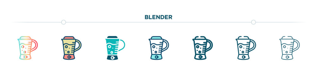 blender icon designed in gradient, filled, two color, thin line and outline style. vector illustration of blender vector icons. can be used for mobile, ui, web
