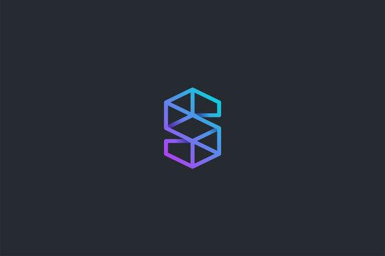 Technology Letter S Logo Template