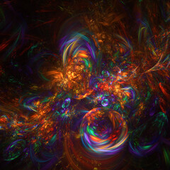Abstract multi-colored fractal background