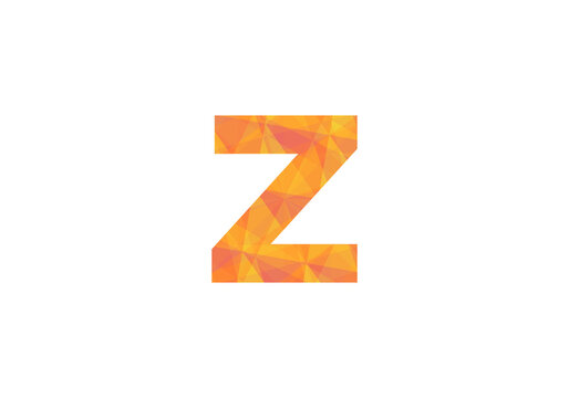 Colorful Letter Z Logo Icon Mosaic Pattern Design template Element vector illustration