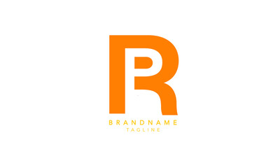 Alphabet letters Initials Monogram logo RP, PR, R and P