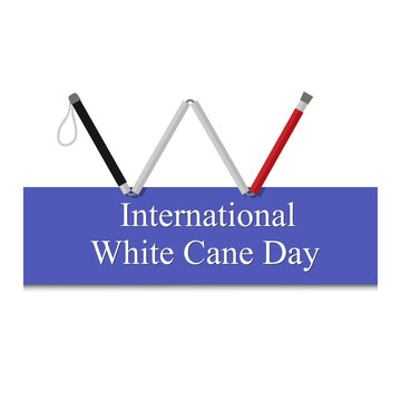 White Cane Safety Day vector ill