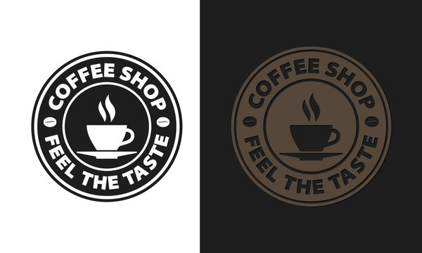 Coffee Shop Logo Design Template. Font used Santa Black. 100% editable and colour changeable.