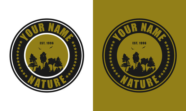 Forest or Adventure Logo Design Template. Font Name Impact. Fully Editable & Color Changeable.