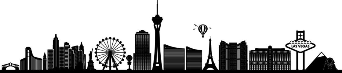 Fototapeta LAS VEGAS City NEVADA Skyline Silhouette Cityscape Vector obraz