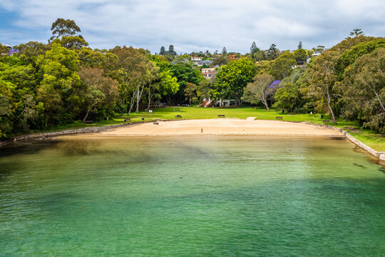 The green Parsley beach in Sydney, NSW Australia