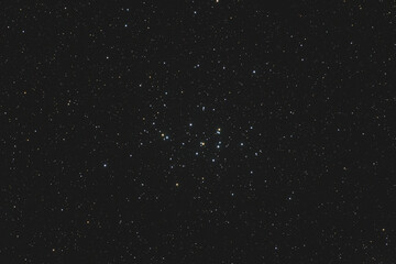 Starfield with the Beehive cluster (M44) in Cancer Constellation
