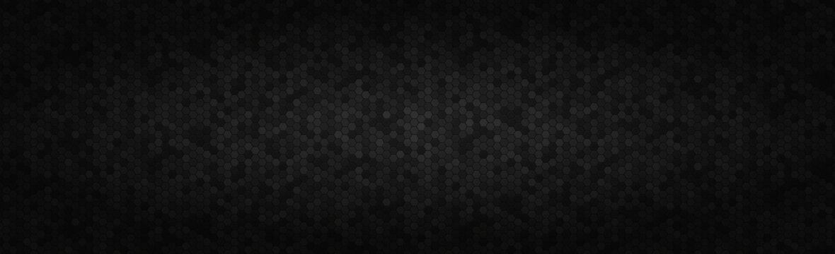 Panoramic texture of black and gray carbon fiber