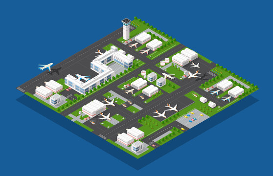 Airport terminal for arrival and departure of aircraft