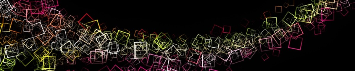 Abstract square panorama background design illustration
