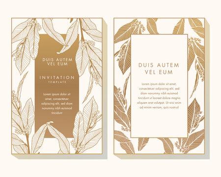 White and Gold Invitation Design