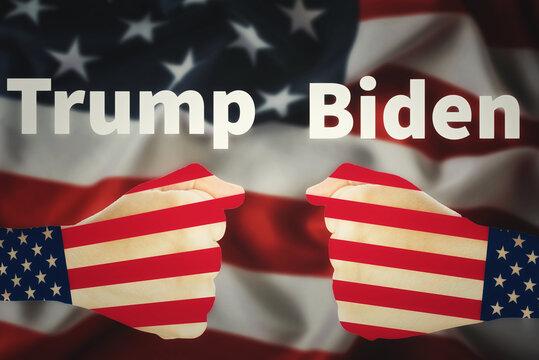 Biden vs Trump president election company. USA election concept