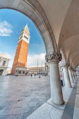 Fototapete - Historical landmark San Marco square in Venice, Italy