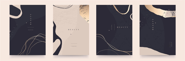 Elegant abstract trendy universal background templates. Minimalist aesthetic.