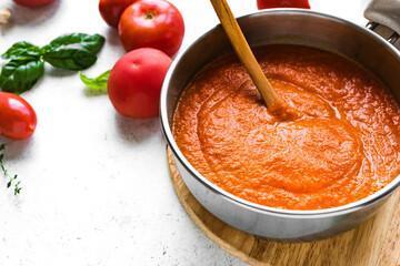 Homemade tomato sauce or soup