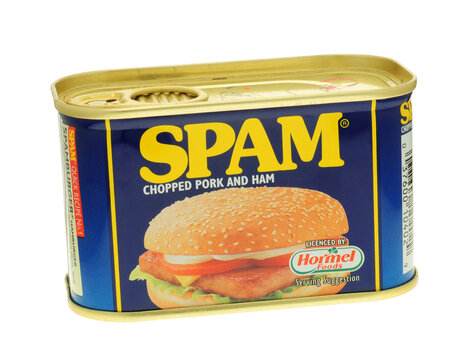 Tin of Spam, Made form chopped Pork and Ham and first introduced in 1937 - 02 February 2007