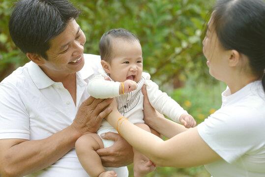 Lovely asian family