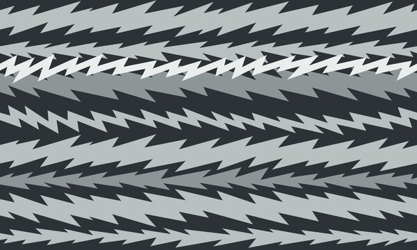 cartoon tv screen static electronic interference zigzag seamless tile background dark monochrome