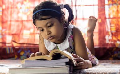 studying girl child