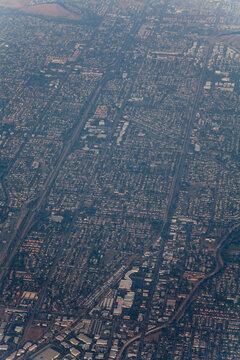 空撮したロサンゼルス