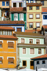 Piled houses. Cudillero, Asturias, Spain
