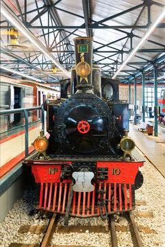 Old restored steam locomotive