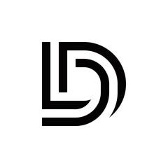 Fototapeta d l dl ld logo design vector symbol graphic idea creative obraz