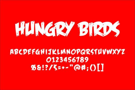 Brush alphabet. Vector typography illustration