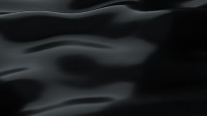 Black smooth background 3D render illustration