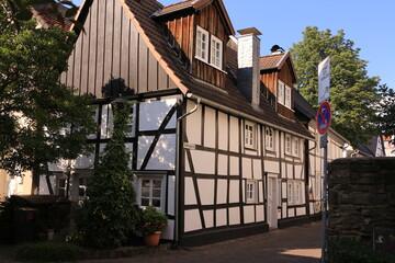Historisches Fachwerkhaus in der Altstadt von Menden im Sauerland