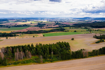 a farming landscape countryside near korbach in hesse, germany