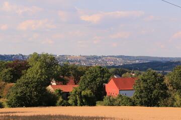 Blick von Menden über das Ruhrtal bis Wickede an der Ruhr