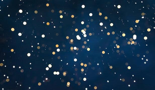 Beautiful Navy Blue Winter Christmas Background
