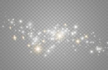 Fototapeta The dust sparks