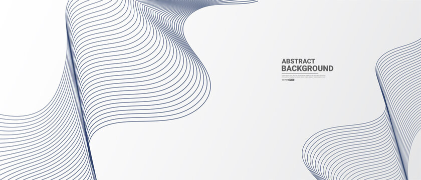 White Abstract background with flowing lines wave.vector illustration.