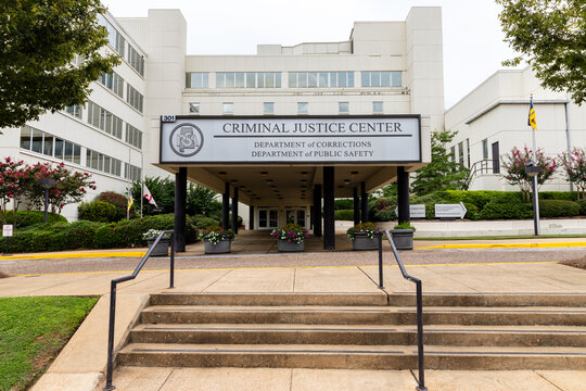 Criminal Justice Center in Montgomery Alabama housing the Department of Corrections and Department of Public Safety