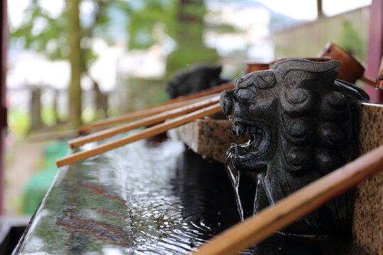 熊本県人吉市 青井阿蘇神社の手水所
