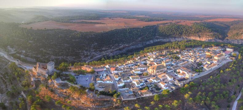 Alarcon, beautiful village of Cuenca,Spain. Aerial Drone Photo